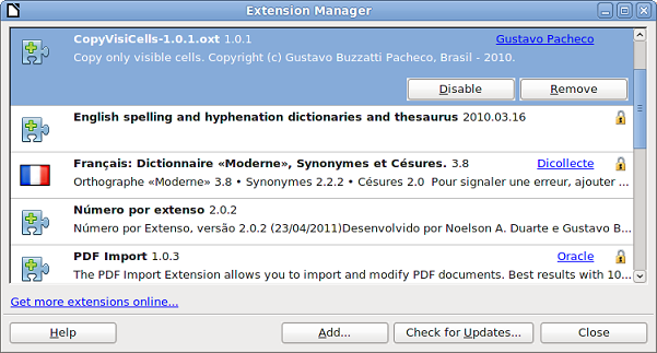 How to install LibreOffice extensions - The Document