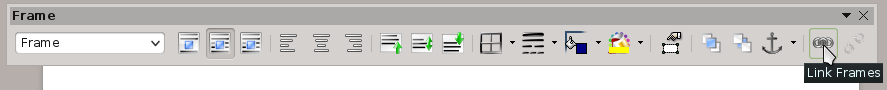 screenshot Frame Toolbar