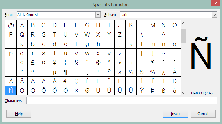 File:4.4 Simplification of Writer special character dialog.png
