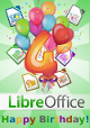 LibreOffice 4 years!