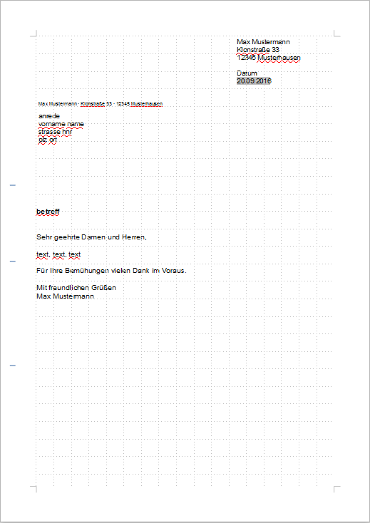 Video Dokumentenvorlage Brief The Document Foundation Wiki