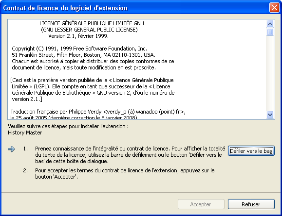 FR.FAQ Generale Extensions Installation2Licence.PNG