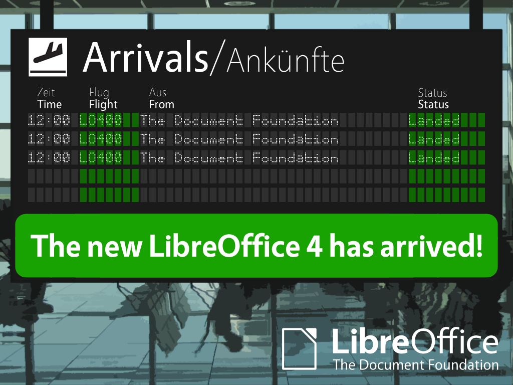 LibreOffice 4.0 has landed!