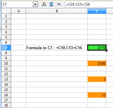 Copy of calculation screen