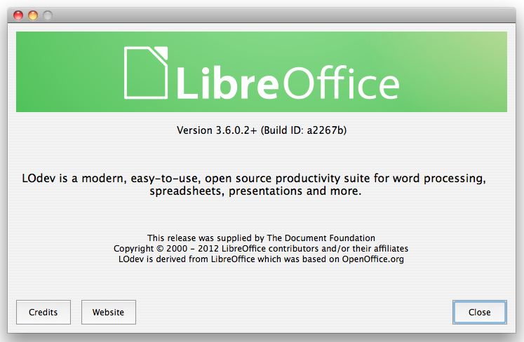 File:LibreOffice 3.6.0.2 plus About box.png