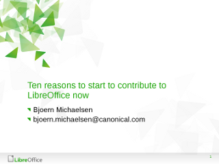 10 reasons to contribute to LibreOffice today