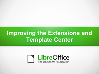 Improving the Extensions and Template Center