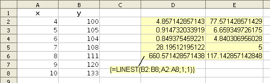 Calc linest example.png