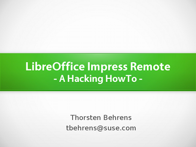 LibreOffice Impress Remote - A Hacking HowTo