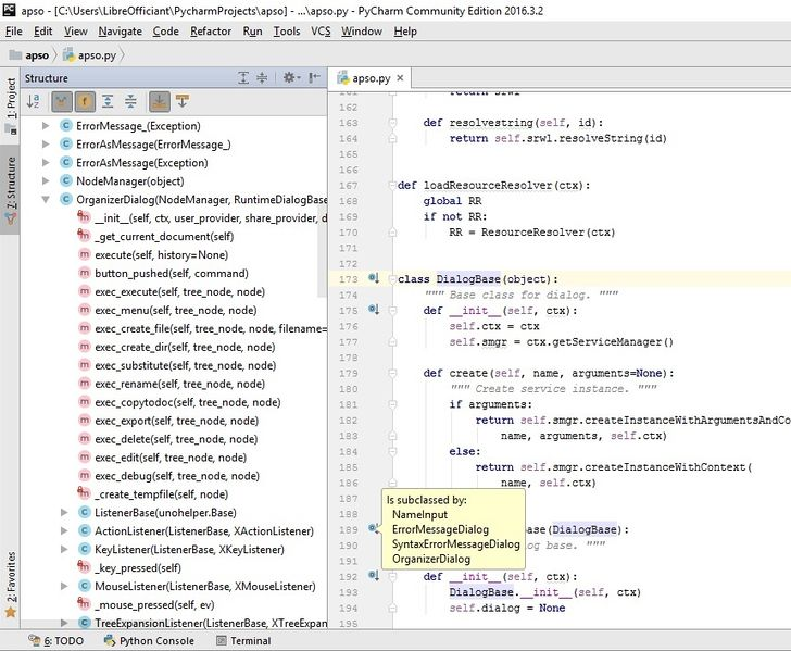 File:PyCharm - Class browsing, syntax highlighting, code folding.jpg