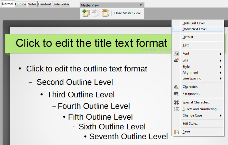 File:Add or hide a level in Impress slide master view.png