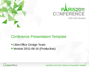 marketing/specialevents/libreoffice conference 2011 paris - the, Powerpoint templates