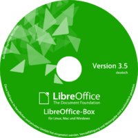dvd box green label LibreOffice-Box 3.5 DE