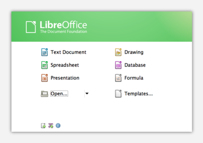 LibreOffice 3.6.0.3 Start Center.png
