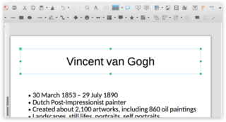 Screen capture of a Title in LibreOffice Impress on a Mac