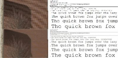 Exemplo de imagens com a qualidade aumentada pelo algoritmo Lanczos.