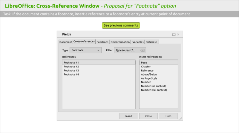 "File:LibreOffice 6 Cross-Reference Window - Proposal for ""Footnote"" option.png"
