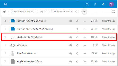 Location of latest template file in Nextcloud