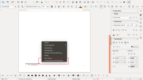 libreoffice 5.4.0
