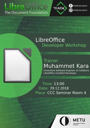 METU NCC ACM LibreOffice Developer Workshop 2018 Poster