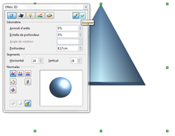 Figure 4 : Application des options 3D
