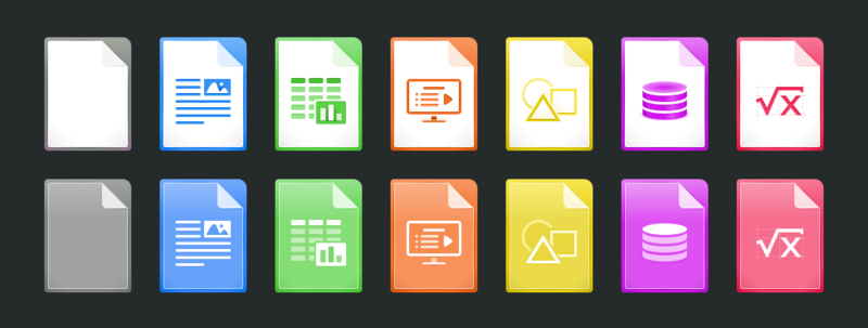 File:Mime Type Icons Redesign Proposal 2015-11-06 v1 Dark BG.png