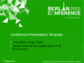 LibreOffice Conference 2012 PresentationTemplateExample.png
