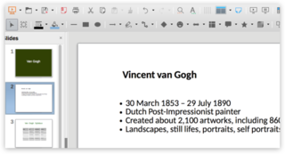 Screen capture of a LibreOffice Impress file on a Mac
