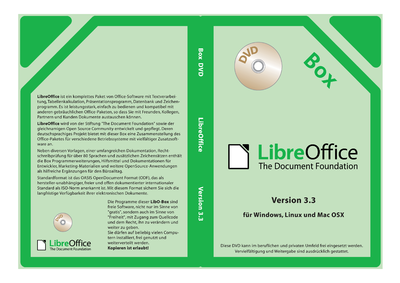 Thin DVD Case cover LibreOffice-Box DE